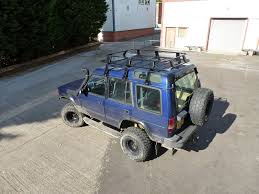 toyota land rover defender land rover defender troop2 expedition heavy duty roof rack black