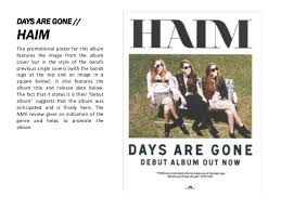 haim poster analysis of album covers and advertisements