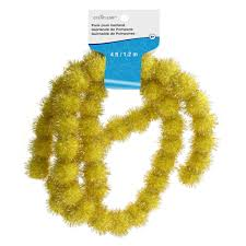 Halloween Tinsel Garland by Shop For The Gold Tinsel Pom Pom Garland By Creatology At Michaels