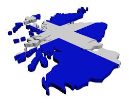 scotland flag map ireland map
