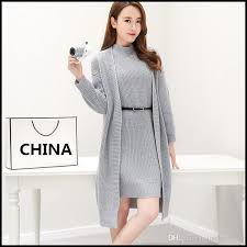 2018 sweater dresses for 2017 autumn cardigan sweaters set