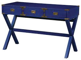 osp designs wellington desk lapis blue transitional desks and