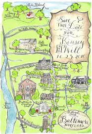 Map Wedding Invitations Designs By Robyn Love Calligraphy And Watercolor Wedding Maps By