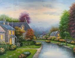 view cottage paintings from photos