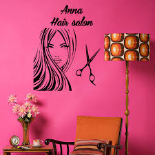 home hair salon decorating ideas custom name wall decals beauty hair salon decor logo lettering