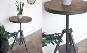 round industrial side table latest rustic accent table with wood and metal table round side