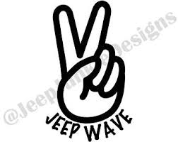 jeep wave sticker mirror jeep wave hand jeep wave hand decal jeep wave decal decals