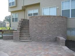 Building A Raised Patio Ace Paver Ep Henry Paver Harvest Blend Raised Patio And Spiral