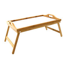 Folding Wooden Bed Folding Wooden Bamboo Breakfast In Bed Lap Tray With White Top