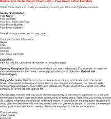 bunch ideas of sample cover letter for medical lab technologist