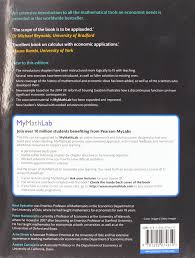 essential mathematics for economic analysis plus mymathlab knut