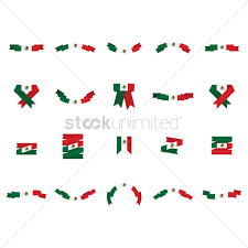 Mexicans Flags Set Of Mexican Flag Banners Vector Image 1618510 Stockunlimited