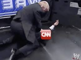Cnn Meme - watch donald trump shares wrestlemania meme of him tackling cnn