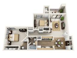 Two Bedroom Floor Plans One Bath 1 2 Bedroom Apartments For Rent In San Antonio Tx Villas Of