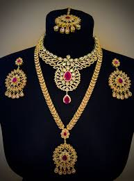 wedding jewellery sets gold gold plated gold and necklace earrings tikka set indian