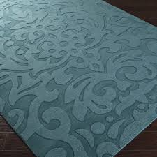 Damask Rugs 28 Teal Damask Rug Hand Crafted Westboro Solid Teal Green