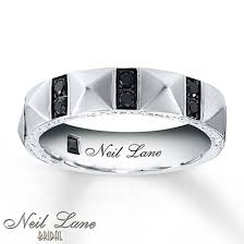 a few men wedding band neil men s band 3 8 ct tw black diamonds 14k gold 5 5mm