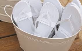wedding flip flops the new something blue sandals wedding