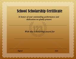 ffa certificate template free school scholarship certificate 123certificate