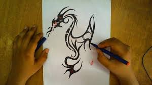 how to draw a dragon step by step draw a dragon for kids how