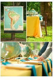 set de table originaux un mariage sur le thème de des voyages u2013 mariage en vogue