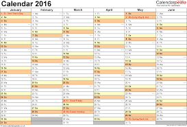 2016 blank calendar editable