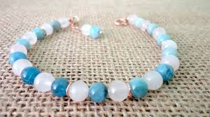 rose quartz gold bracelet images Serenity collection milky aquamarine rose quartz and rose gold jpg