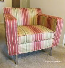 Theater Sofa Dwr Waverly Stripe Slipcover For Dwr Armchair The Slipcover Maker