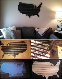 beautiful diy wooden usa wall map diy crafts