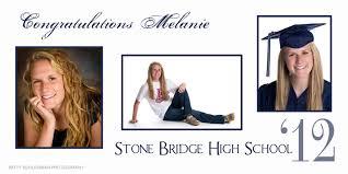 high school senior banners a custom graduation banner high school senior pictures patty