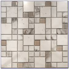 kitchen carrara marble and glass lowes mosaic tile for wall