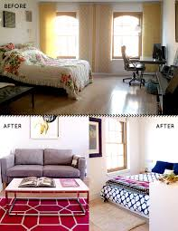 Designing A One Bedroom Apartment Before U0026 After A Studio Apartment Is Brought To Life With Color