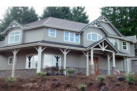 Blue Craftsman House by Craftsman House Plans Rutherford 30 411 Associated Designs