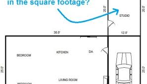 house square footage can a detached structure be included as part of a home s square