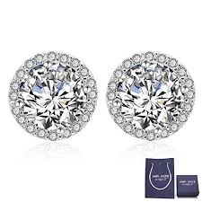 cubic zirconia stud earrings silver cubic zirconia stud earrings 925 sterling
