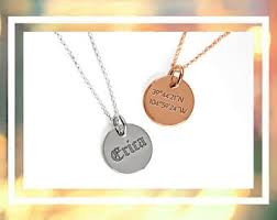 custom engraved necklace pendants engraved pendant etsy