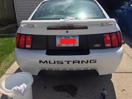 99 mustang bumper graphics mustang matte black rear bumper accent