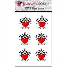 fake heart tattoo