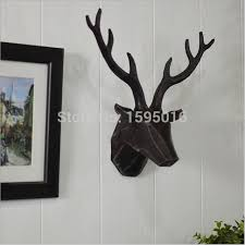 deer decor for home wall deer home decorations resin deer head moose elk caribou head