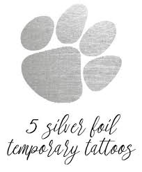 tiger paw temporary silver foil set of 5 magnolia and scout