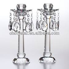 Crystal Candle Sconces Clear Crystal Mini Candle Holder With Hanging Crystals Hanging