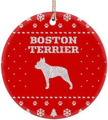 boston terrier ceramic circle ornament iheartdogs