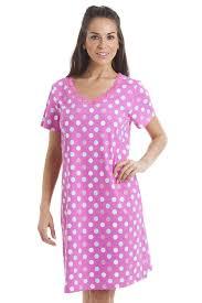 multi coloured polka dot pink cotton nightdress