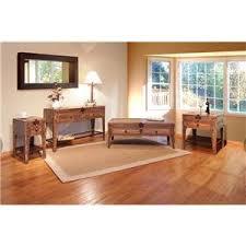 International Furniture Direct  Antique Solid Pine  TV Stand - Artisan home furniture