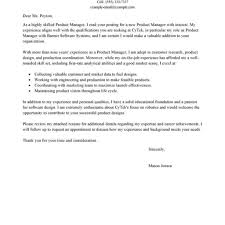product marketing manager cover letter cover letter sample for