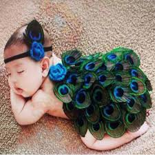 peacock headband lovely newborn fashion boy girl kid peacock headband knit crochet