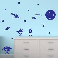 alien space stickers reviews online shopping alien space hwhd carton alien stars planet space rocket wall sticker wall decal transfer kids decoration os1532 free shipping