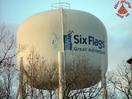 Six Flags Logo Water Towerat Six Flags Great Adventure