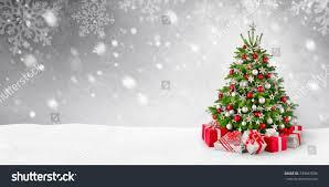 gorgeous elegant christmas tree gifts red stock photo 339047696