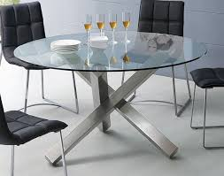 furniture extraordinary round glass dining table with unique